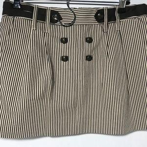 BCBG Max Azria brown/white mini skirt new size 2